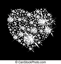 diamante, coração