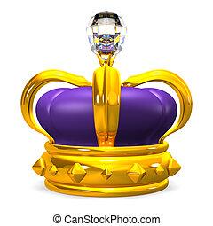 diamante, corona, grande