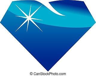 diamante, cosmético, odontologia