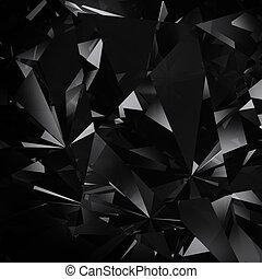diamante, dettaglio, fondo, struttura