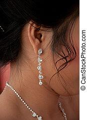 diamante, earing