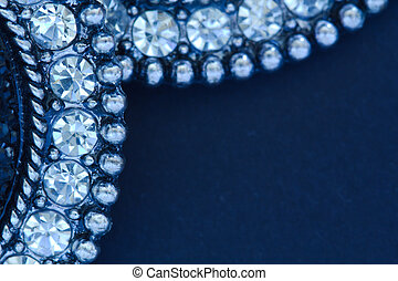 Diamante Earrings on Black Background
