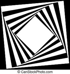 diamante, fondo, cornice, illusione, nero, arabesco, astratto, trasparente