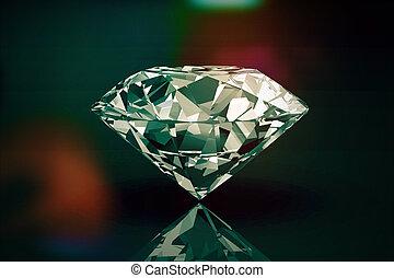 diamante, jóia, resolução, 3d, imagem, vindima, estilo