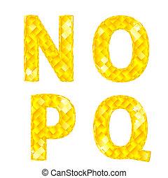 diamante, lettere, q, o, n, p