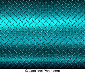 diamante, metálico, textura, azul, metal