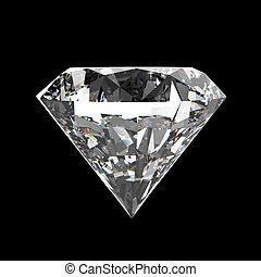 diamante, negro, superficie, plano de fondo
