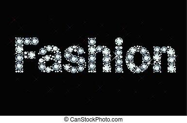 diamante, palavra, moda