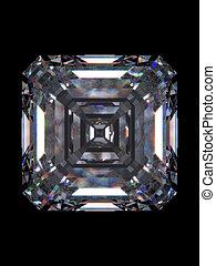 diamante, quadrato, smeraldo