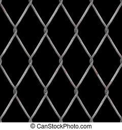 diamante, recinzione chainlink