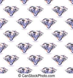 diamante, seamless, repetición