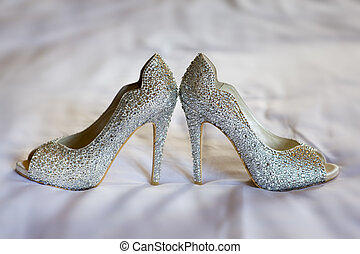 diamante wedding shoes - diamante high healed wedding shoes...
