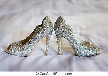 diamante wedding shoes - diamante high healed wedding shoes...