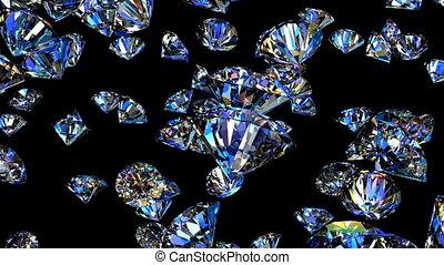 diamantes, animação 3d