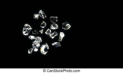 diamantes, bonito, experiência., looped, 3d
