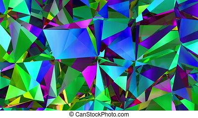 diamants, fond, boucle, réfraction