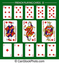 diamants, jouer cartes, francais, 2, complet