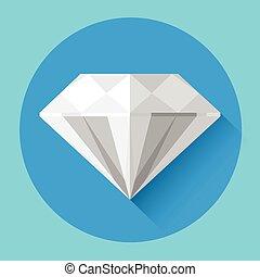 diament, barwny, ikona