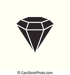 diament, czarnoskóry, ikona
