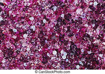 diament, dużo, luksus, tło, mały, kamienie, rubin