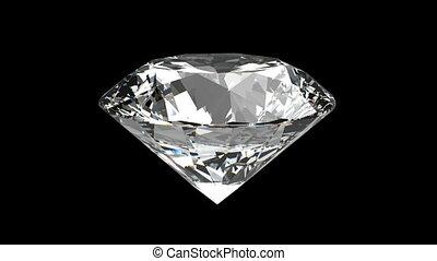 diament, loopable, obracający