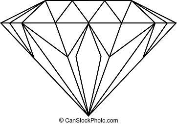 diament, rysunek