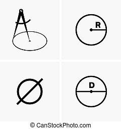 diameters, radiuses