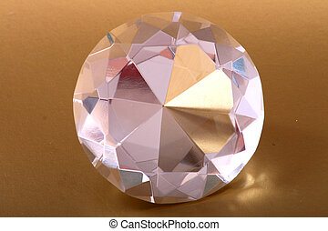 diamnod - very nice diamond isolated on the golden...
