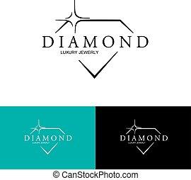 diamond., 矢量, logo., 图标