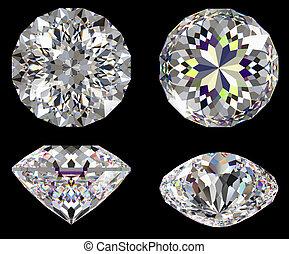 Diamond 16 star isolated