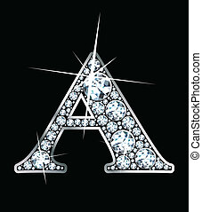 "Diamond ""A\"" - A stunningly beautiful \""A\"" set in diamonds..."