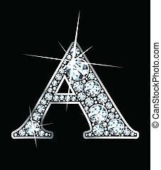 "Diamond \""A\"" - A stunningly beautiful \""A\"" set in diamonds..."
