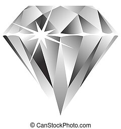 diamond against white background, abstract vector art illustration