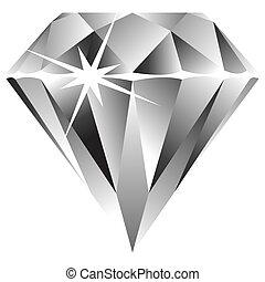 diamond against white background, abstract art illustration