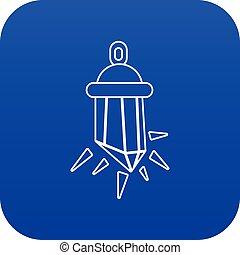 Diamond amulet icon blue vector