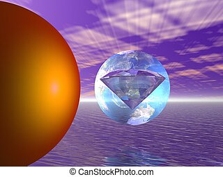 diamond and earth