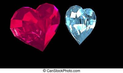 Diamond and ruby  rotating