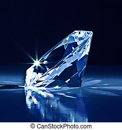 diamond background - background of classic diamond blue tone