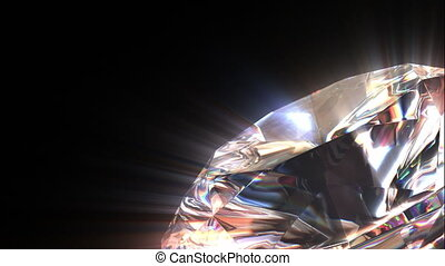 Diamond background, loop-able 3d animation