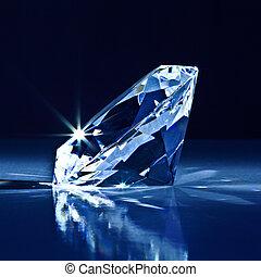 diamond background - background of classic diamond blue tone