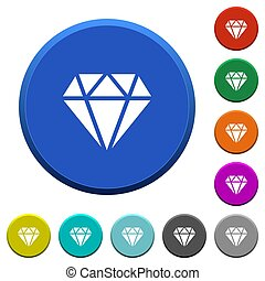 Diamond beveled buttons