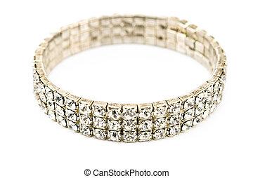 Diamond bracelet isolated on white