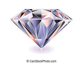 Diamond bright - Artistic brightly coloured cut diamond with...