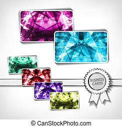 Diamond business cards. Vector illustration