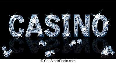 Diamond casino background, vector