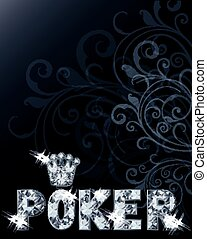Diamond casino poker card, vector
