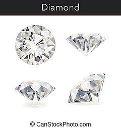 Diamond - Vector photorealistic illustration of a diamond....