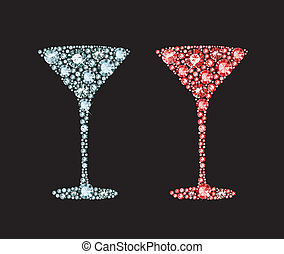 Diamond Cocktail - cocktail glass made of gems