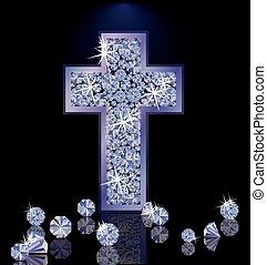Diamond Cross wallpaper, vector illustration