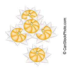 Diamond Crown or Rice Flour Dumplings with Egg Yolks